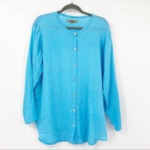Flax | Linen Long Sleeve button-shirt